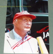 Niki Lauda signed on early 2000s  Portait photo